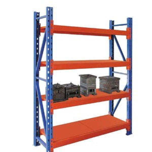 Industrial Heavy Duty Boltless Rivet Angle Teardrop Mezzanine Cantilever Metal Steel Warehouse Pallet Storage Shelf #3 image
