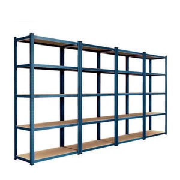 Industrial Warehouse Storage Metal Long Span Medium Duty Shelving with Plastic Bin #2 image