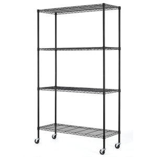 Rolling NSF 4 Tier Chrome Steel Commercial Restaurant Kitchen Food Storage Wire Shelving Rack Factory #1 image
