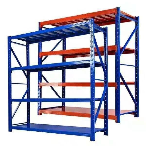 Heavy Display Adjustable Rivet Racksupermarket/Warehouse Steel Metal Shelving #3 image