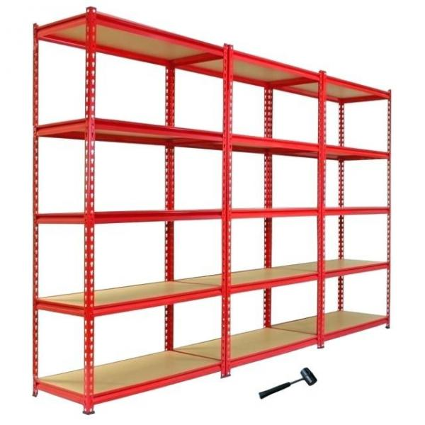 Heavy Supermarket/Warehouse Steel Metal Display Adjustable Rivet Rack Shelving #3 image