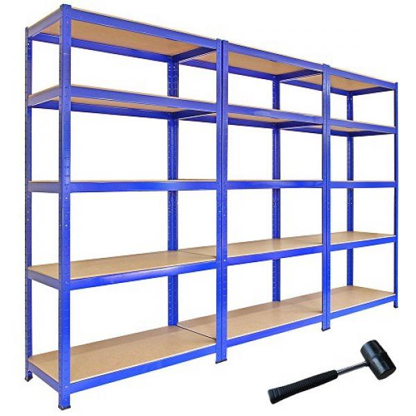 Heavy Supermarket/Warehouse Steel Metal Display Adjustable Rivet Rack Shelving #2 image