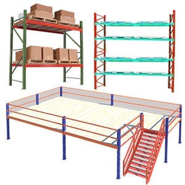 Industrial Heavy Duty Boltless Rivet Angle Teardrop Mezzanine Cantilever Metal Steel Warehouse Pallet Storage Shelf #2 image